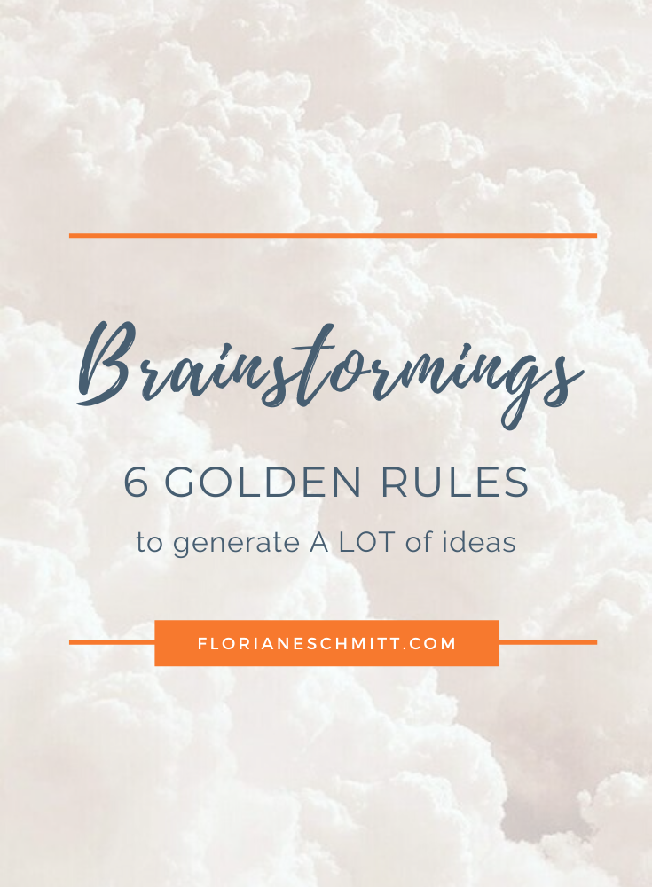 Brainstorming techniques : 5 golden rules