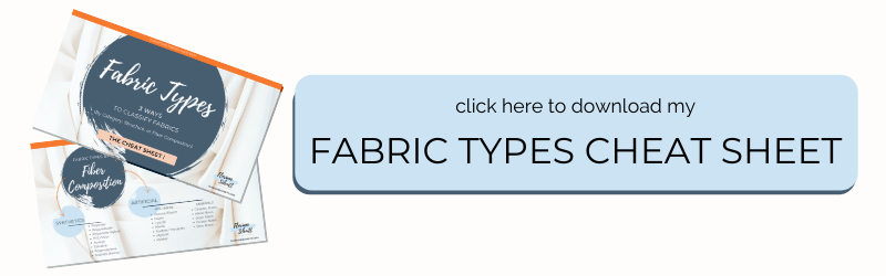 Fabric Type Cheat Sheet