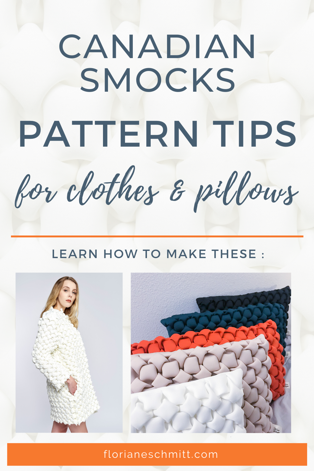 Patterns tips for canadian smocks clothes and pillow covers