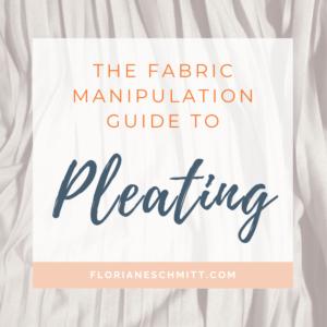 Pleats in fashion fabric manipulation