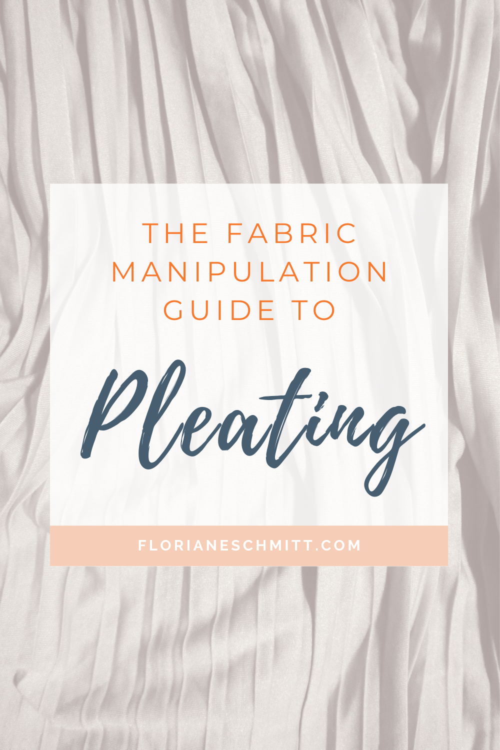 Pleats in fashion fabric manipulation